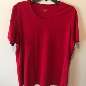 Kim Rogers Women red Top size 1x